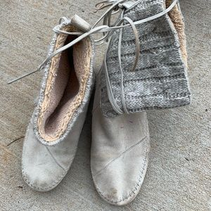 Sweater boots white